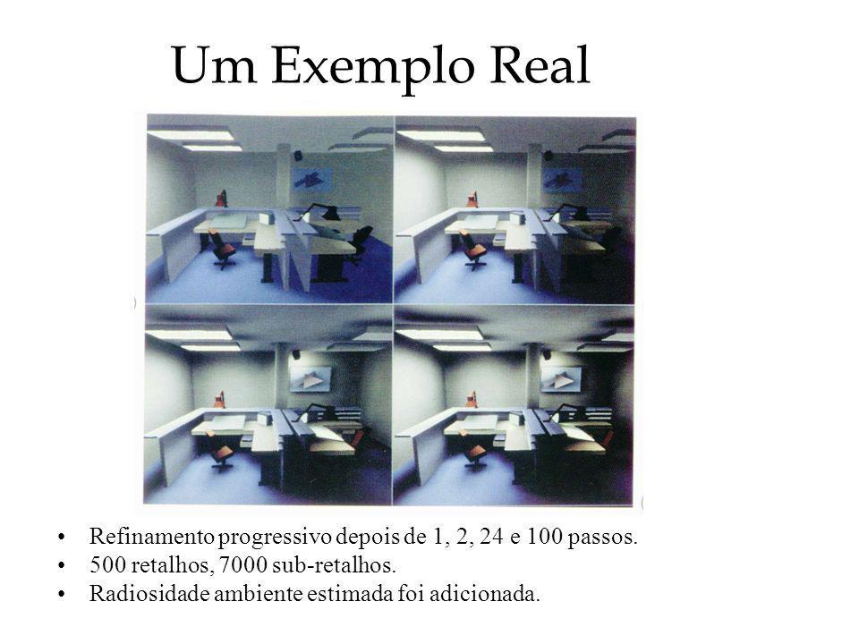 Um Exemplo Real Refinamento progressivo depois de 1, 2, 24 e 100 passos. 500 retalhos, 7000 sub-retalhos.