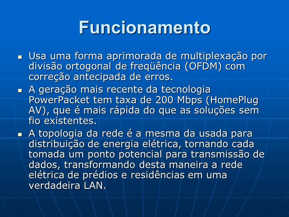 Funcionamento Usa uma forma aprimorada de multiplexação por divisão ortogonal de freqüência (OFDM) com correção antecipada de erros.
