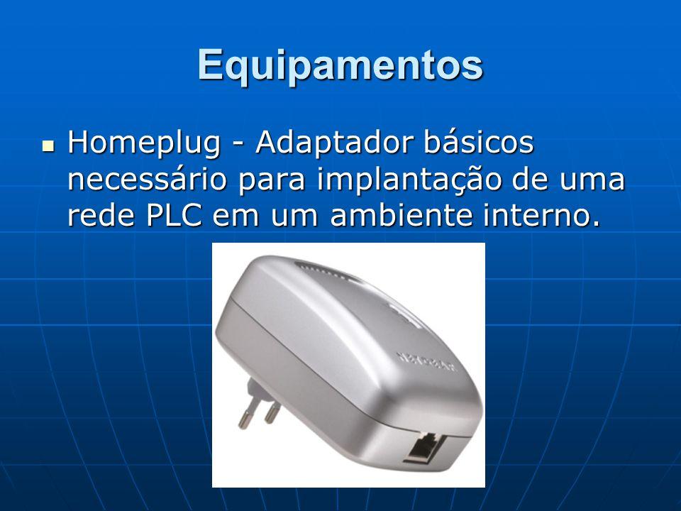 Equipamentos Homeplug - Adaptador básicos necessário para implantação de uma rede PLC em um ambiente interno.
