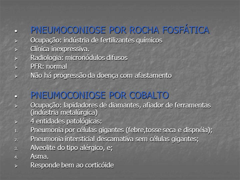 PNEUMOCONIOSE POR ROCHA FOSFÁTICA
