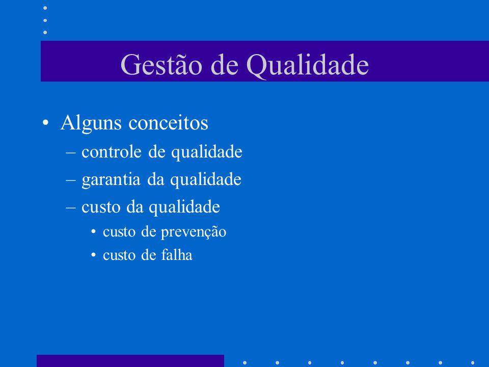 Gestão de Qualidade Alguns conceitos controle de qualidade