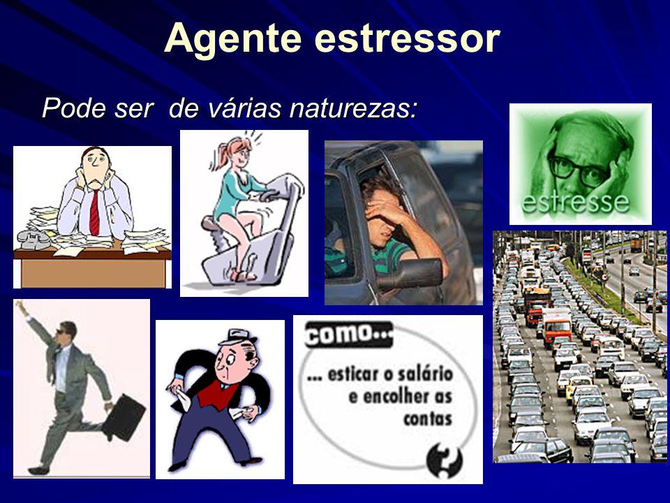 Agente estressor Pode ser de várias naturezas: