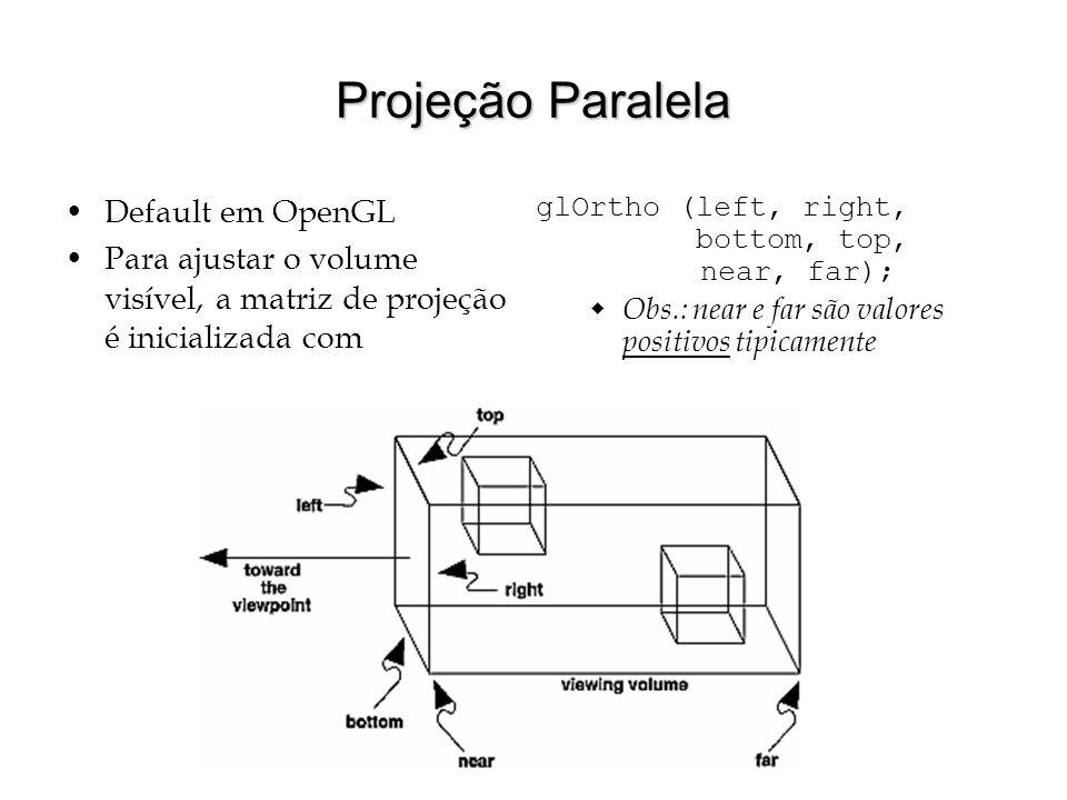 Projeção Paralela Default em OpenGL