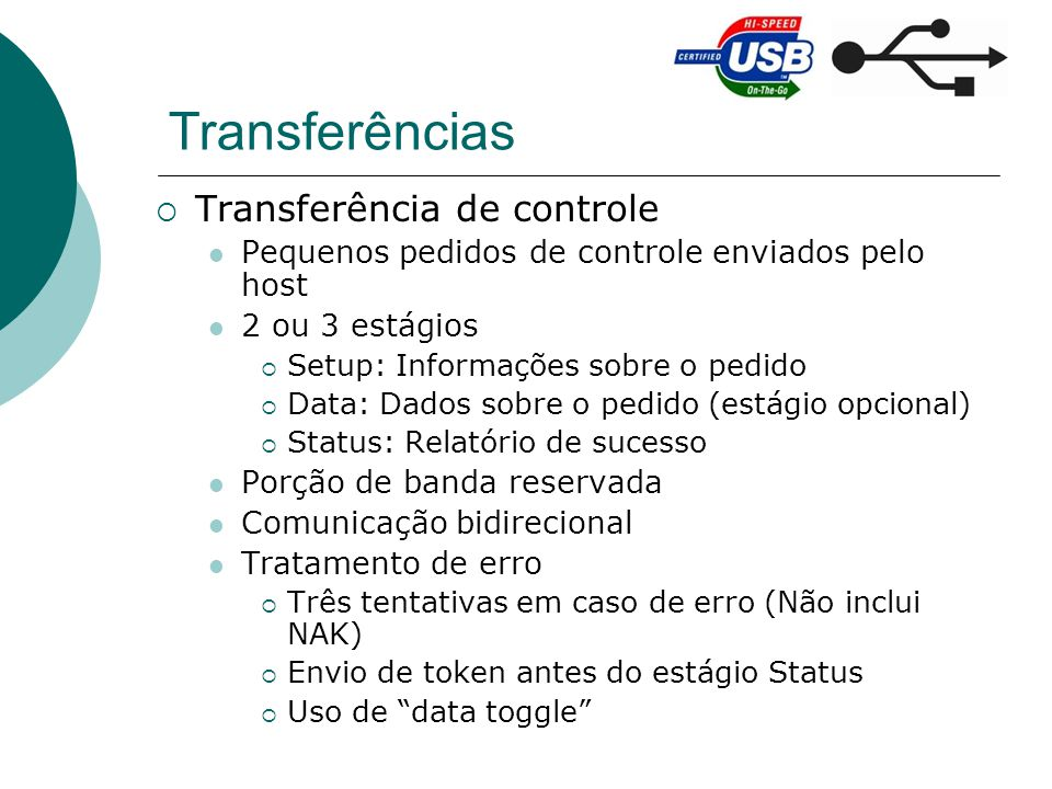 Transferências Transferência de controle