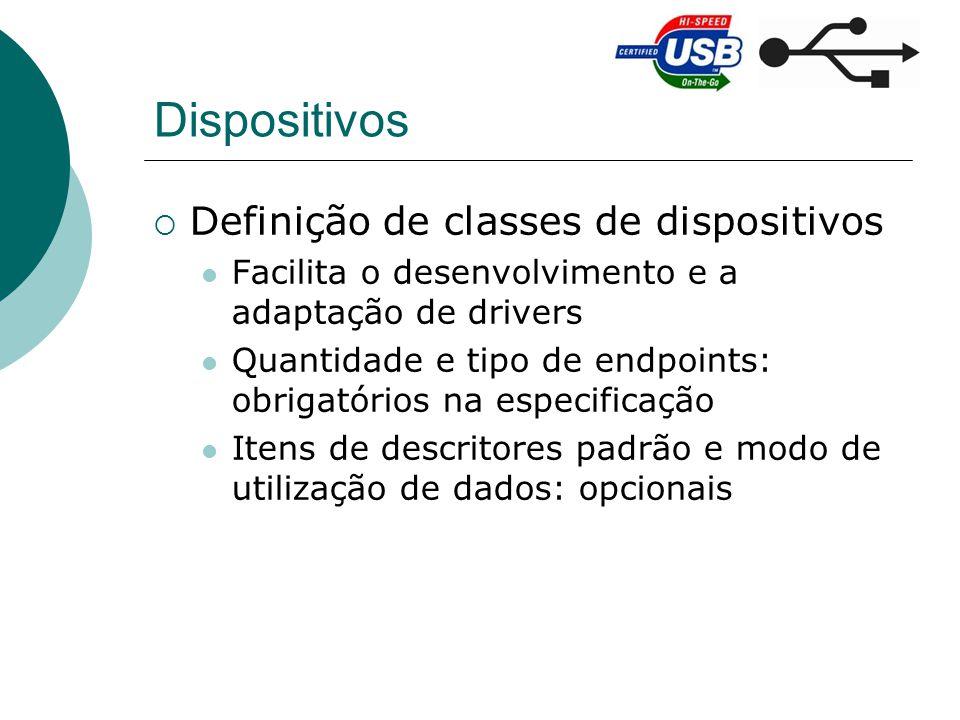 Dispositivos Definição de classes de dispositivos
