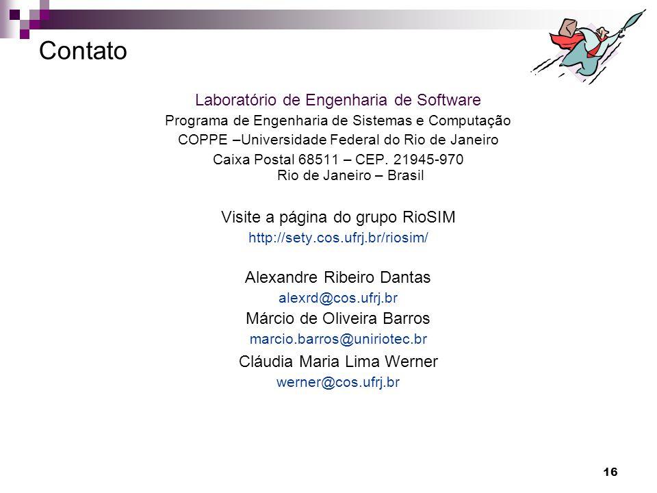 Contato Laboratório de Engenharia de Software