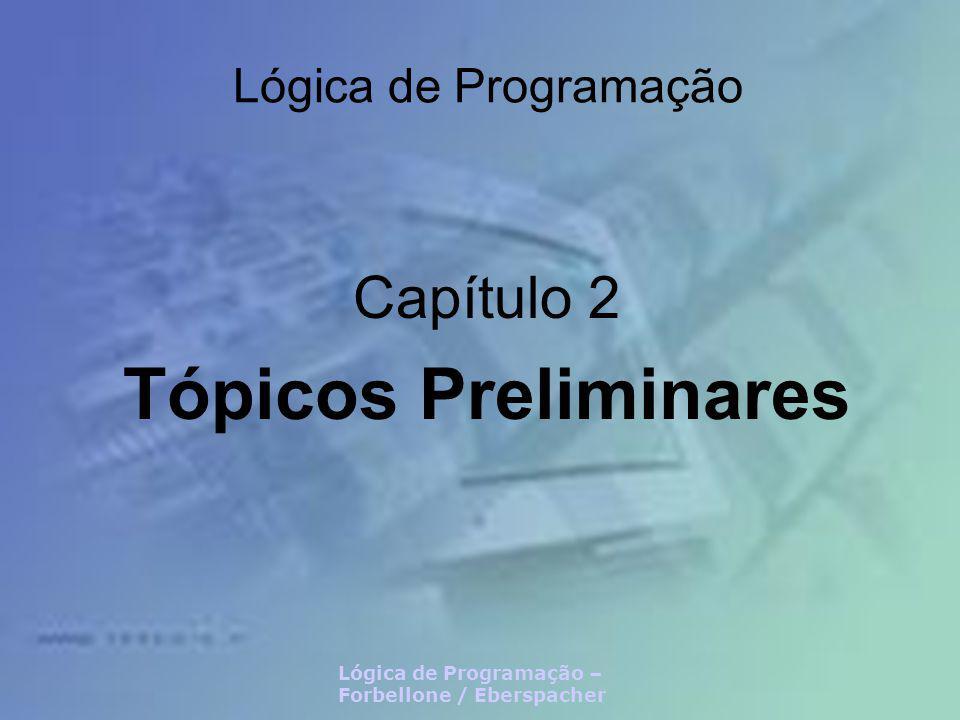 Capítulo 2 Tópicos Preliminares