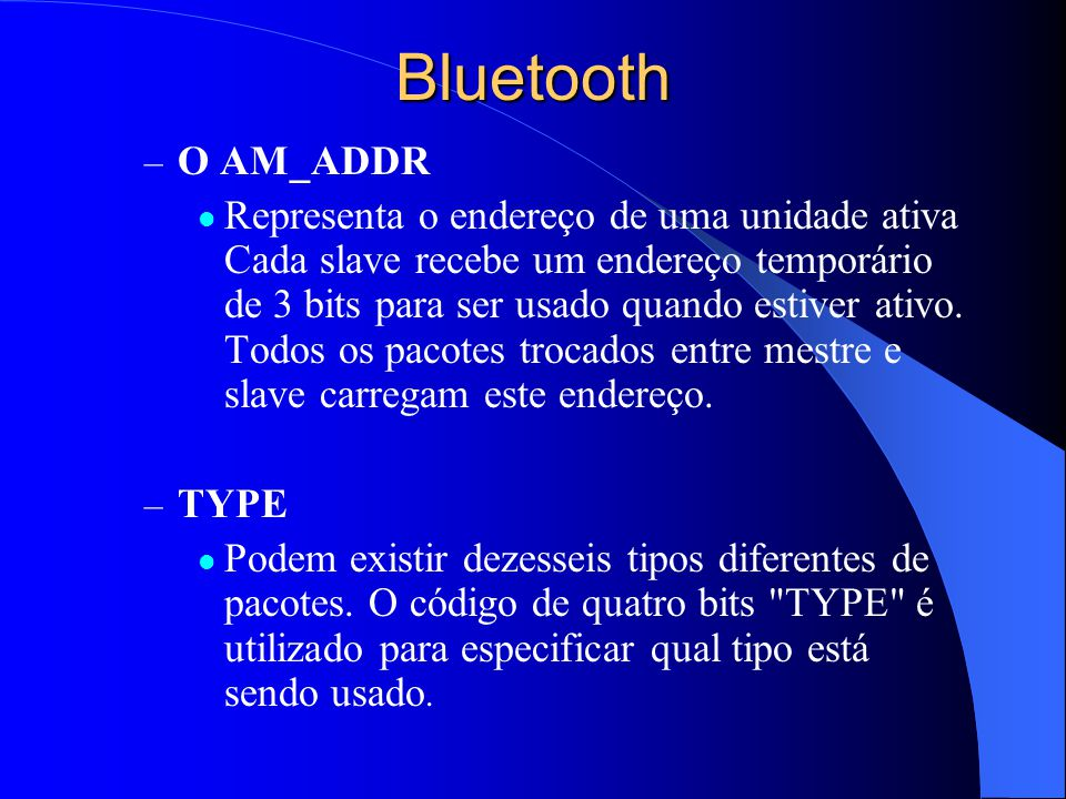 Bluetooth O AM_ADDR.