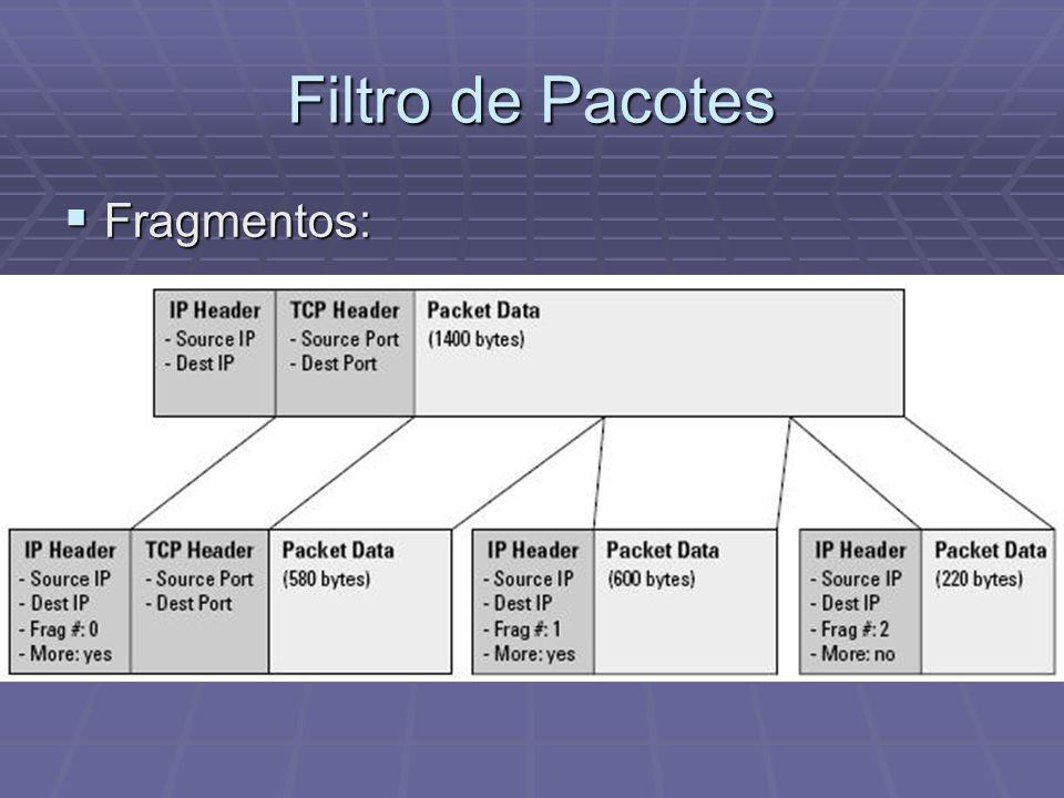 Filtro de Pacotes Fragmentos: