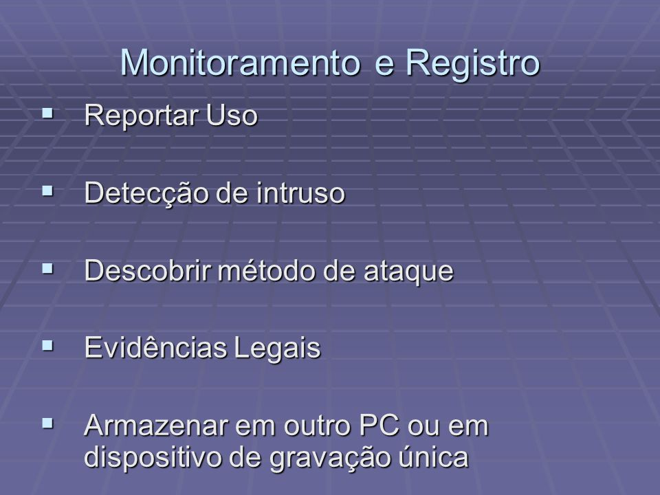Monitoramento e Registro