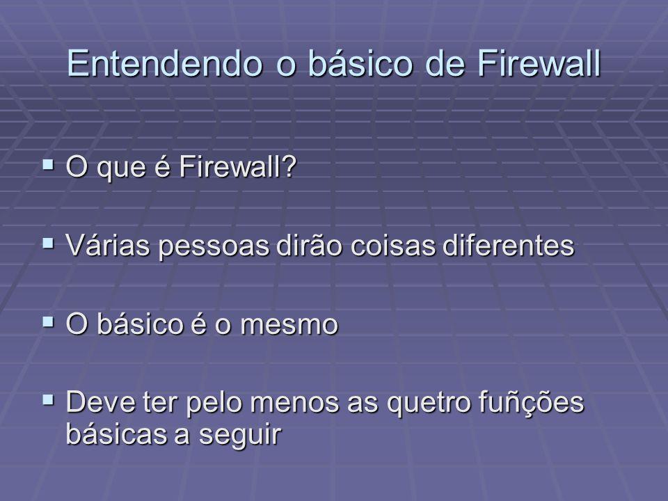 Entendendo o básico de Firewall