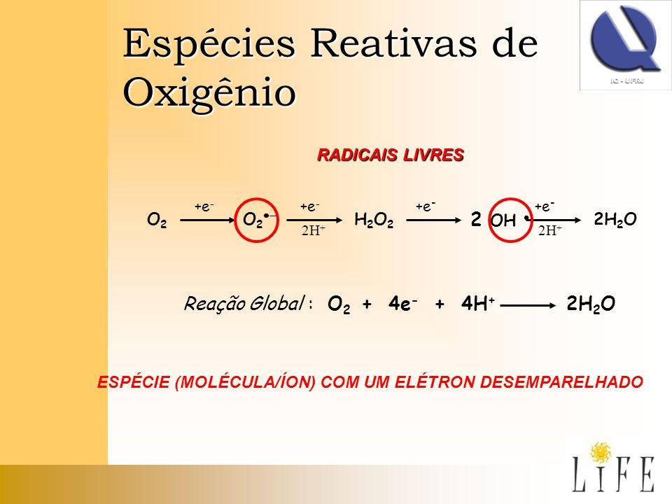 ESPÉCIE (MOLÉCULA/ÍON) COM UM ELÉTRON DESEMPARELHADO