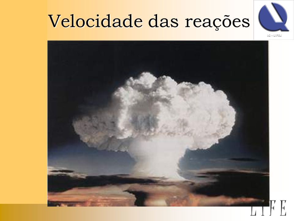 Velocidade das reações