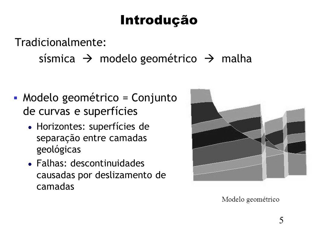 sísmica  modelo geométrico  malha