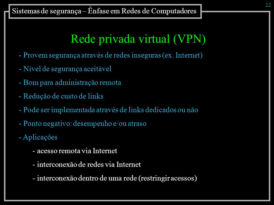 Rede privada virtual (VPN)