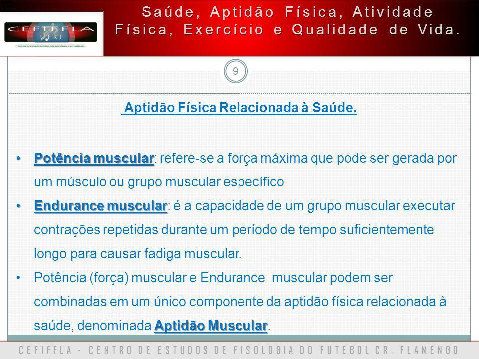 Saúde, Aptidão Física, Atividade Física, Exercício e Qualidade de Vida.