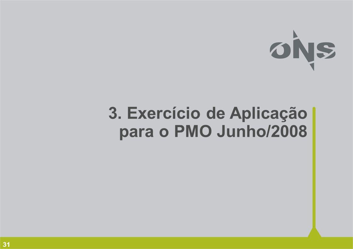 3. Exercício de Aplicação para o PMO Junho/2008