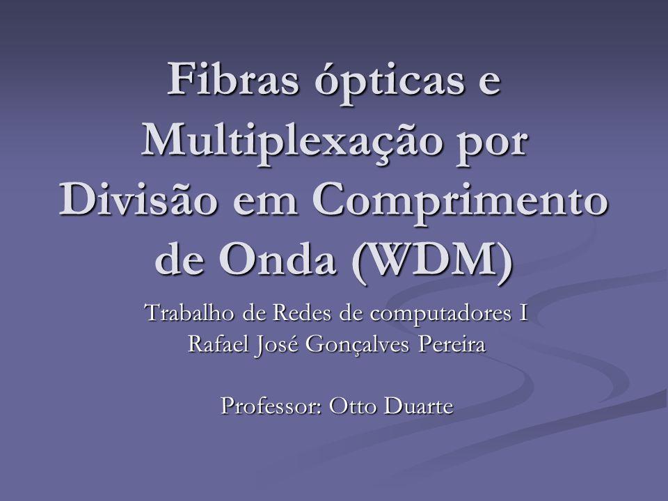 Fibras ópticas e Multiplexação por Divisão em Comprimento de Onda (WDM)