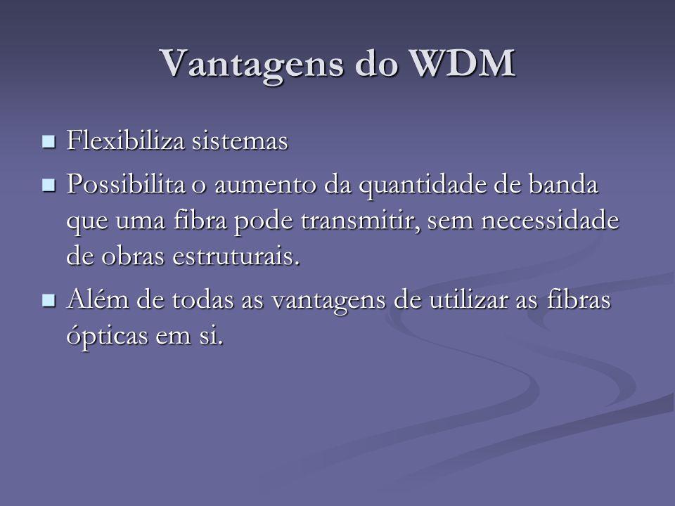 Vantagens do WDM Flexibiliza sistemas