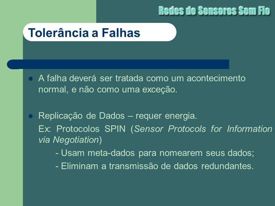 Tolerância a Falhas A falha deverá ser tratada como um acontecimento normal, e não como uma exceção.