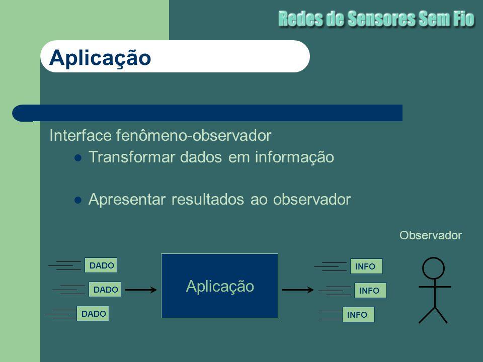 Aplicação Interface fenômeno-observador
