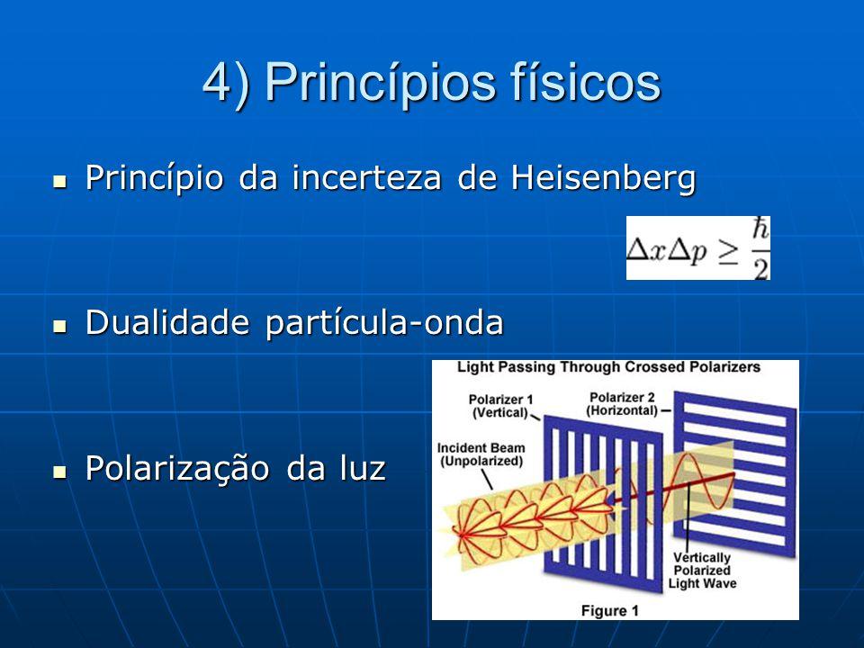 4) Princípios físicos Princípio da incerteza de Heisenberg