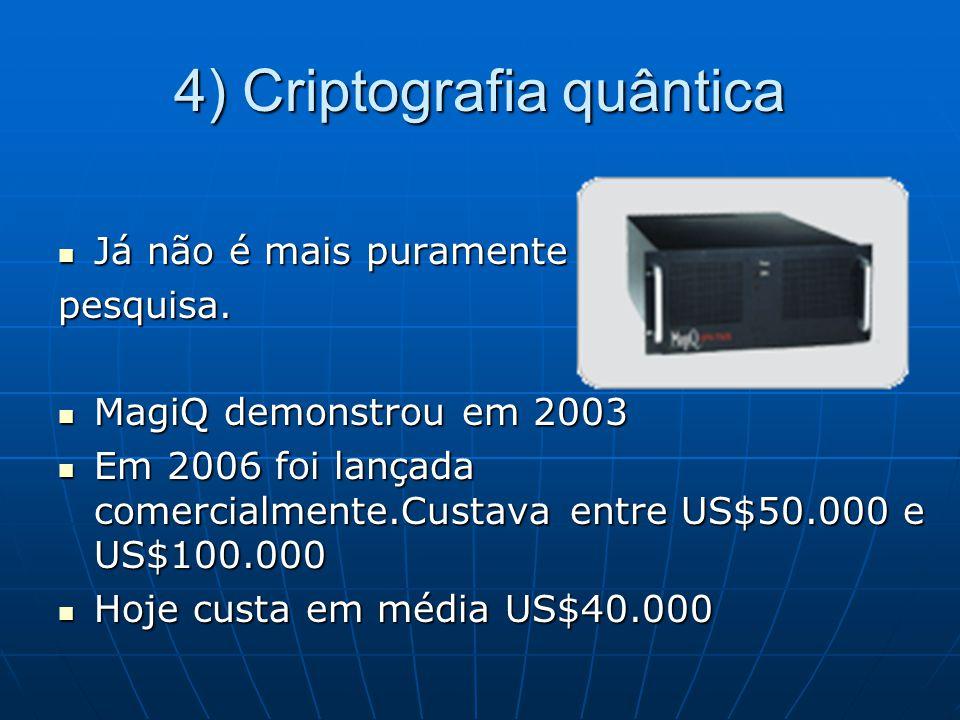 4) Criptografia quântica