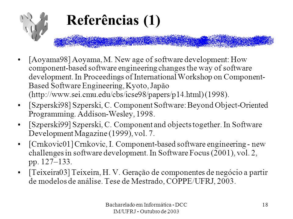 Bacharelado em Informática - DCC IM/UFRJ - Outubro de 2003