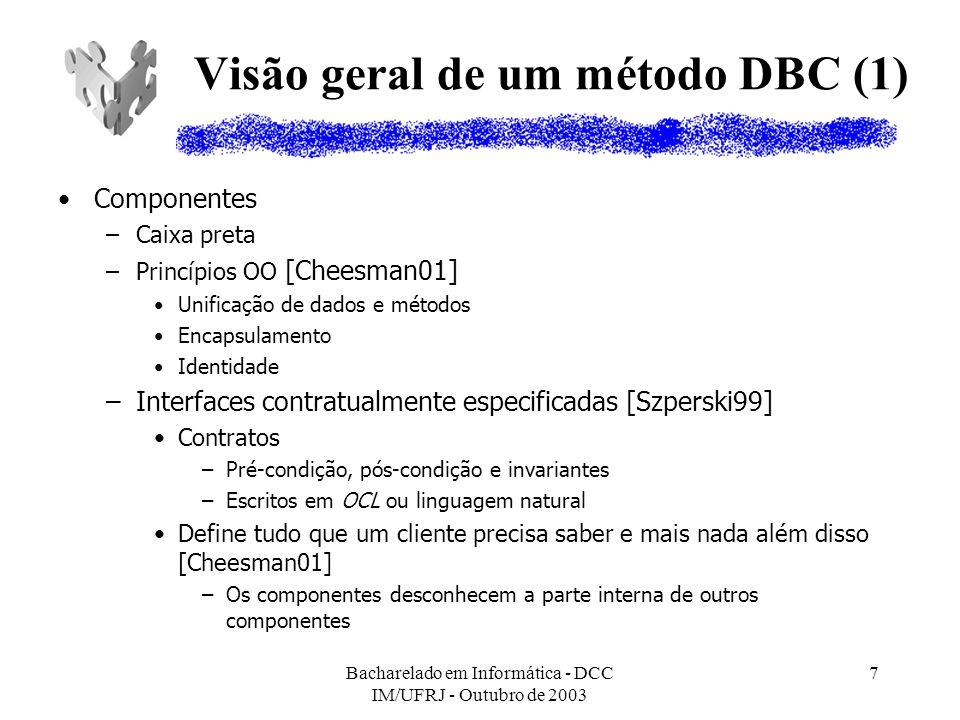 Visão geral de um método DBC (1)