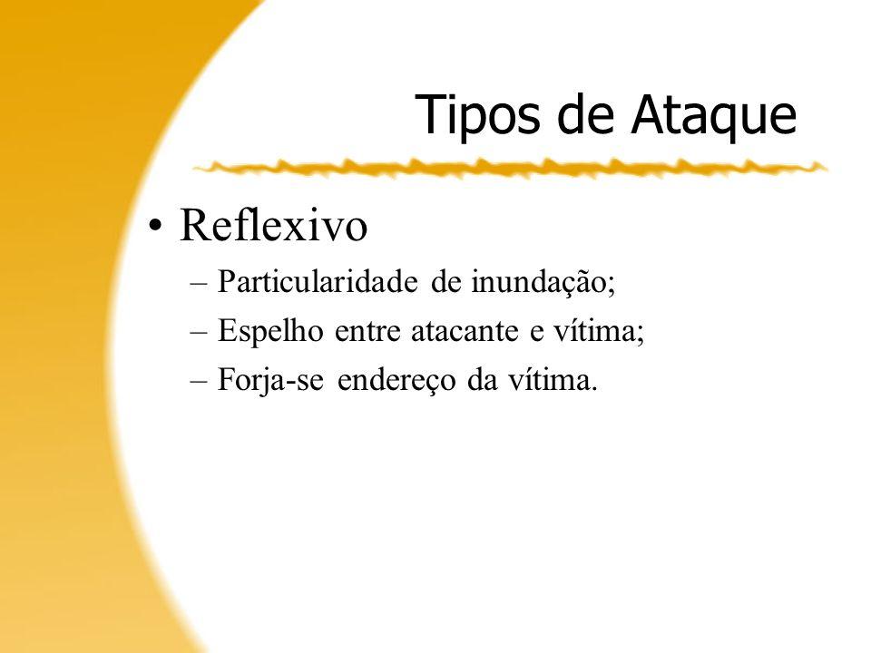 Tipos de Ataque Reflexivo Particularidade de inundação;