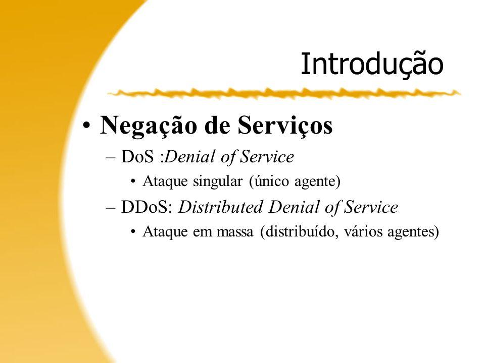 Introdução Negação de Serviços DoS :Denial of Service