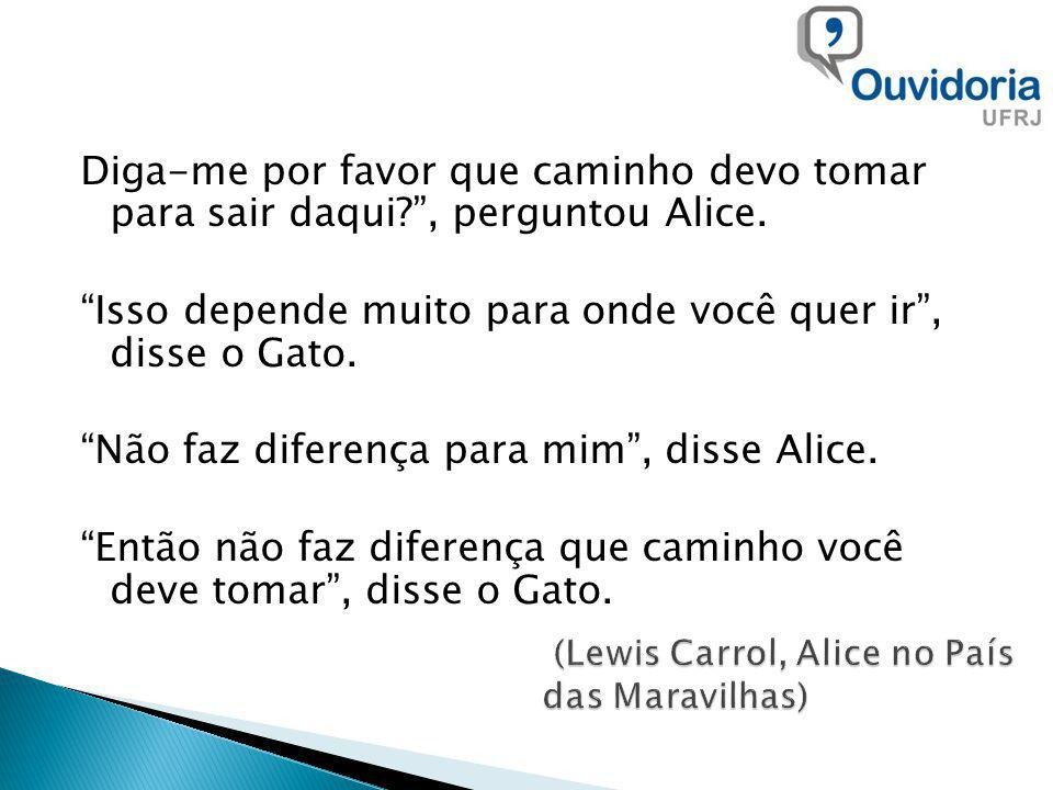 (Lewis Carrol, Alice no País das Maravilhas)