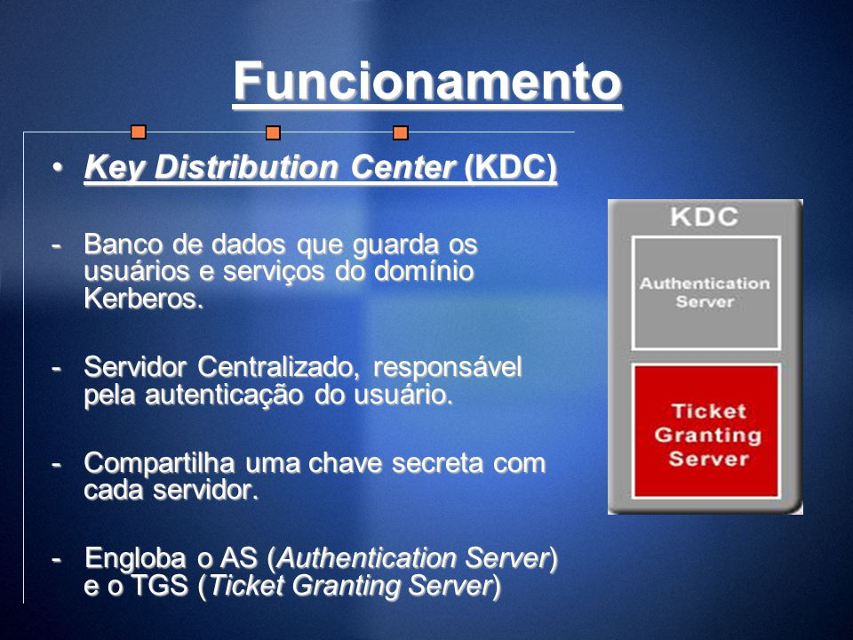 Funcionamento Key Distribution Center (KDC)
