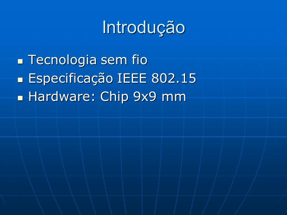 Introdução Tecnologia sem fio Especificação IEEE 802.15