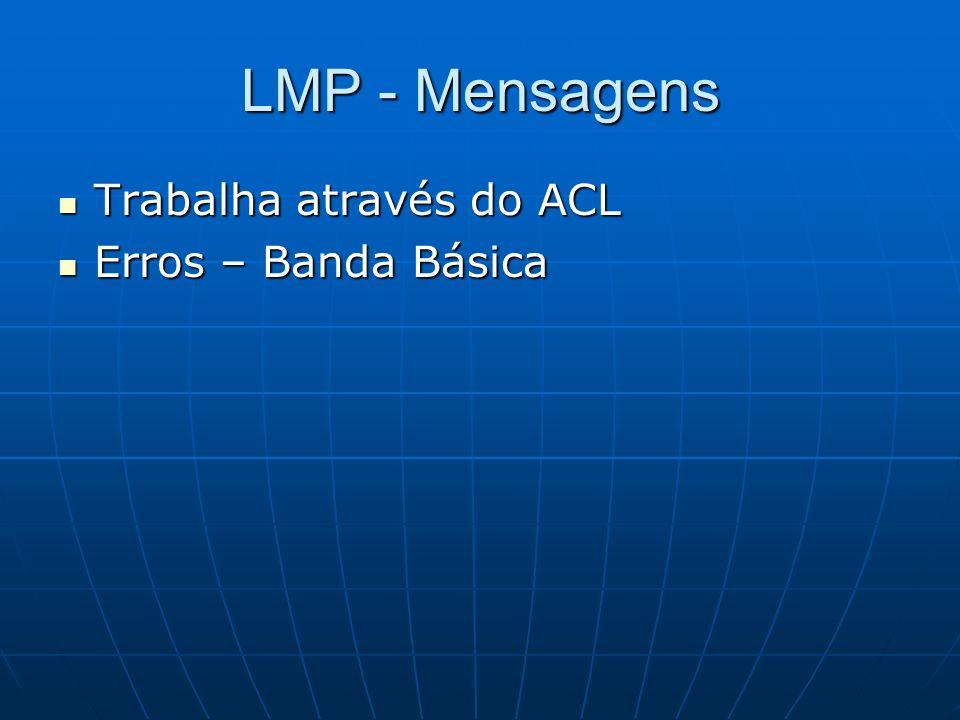 LMP - Mensagens Trabalha através do ACL Erros – Banda Básica
