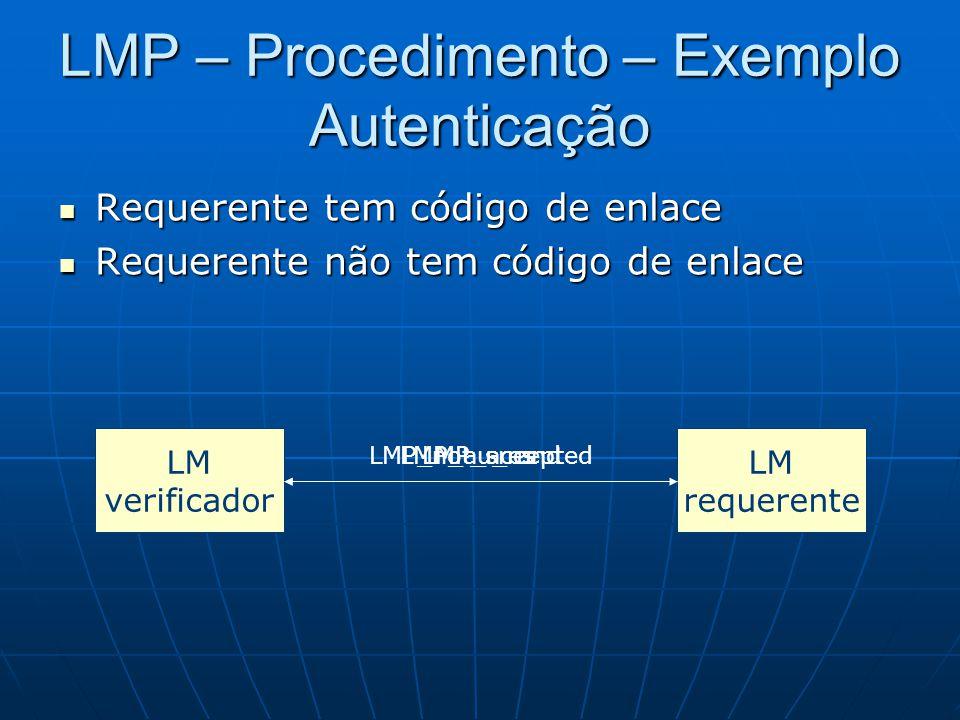 LMP – Procedimento – Exemplo Autenticação