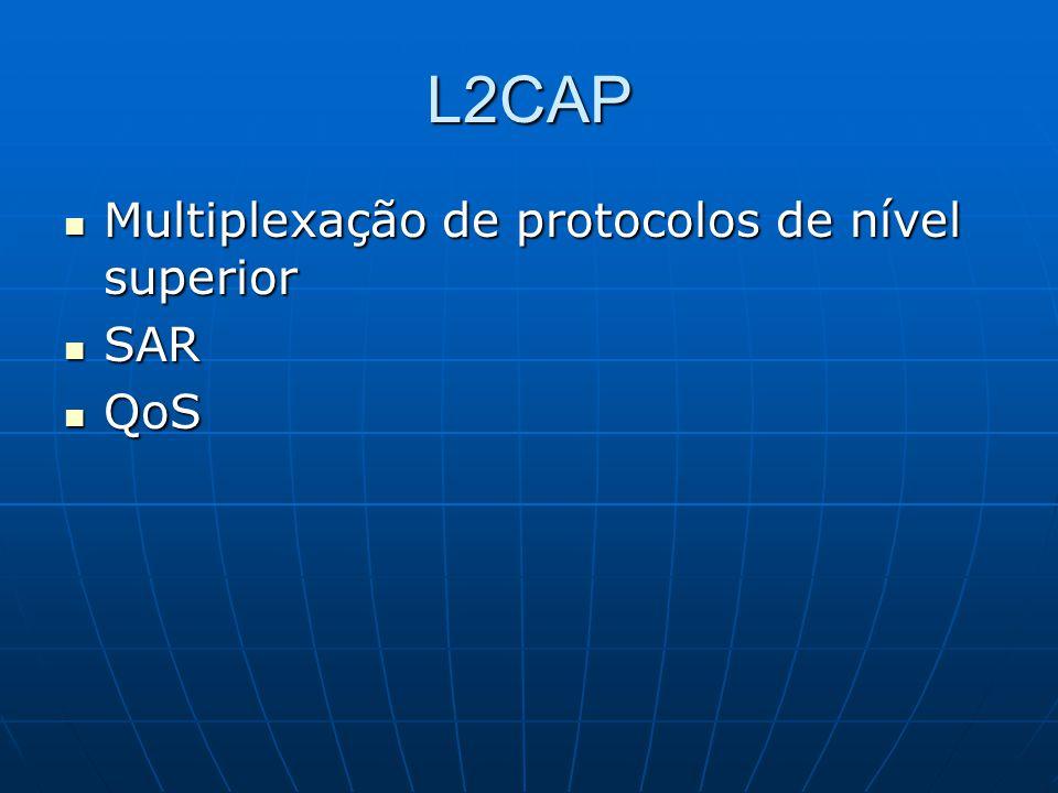 L2CAP Multiplexação de protocolos de nível superior SAR QoS