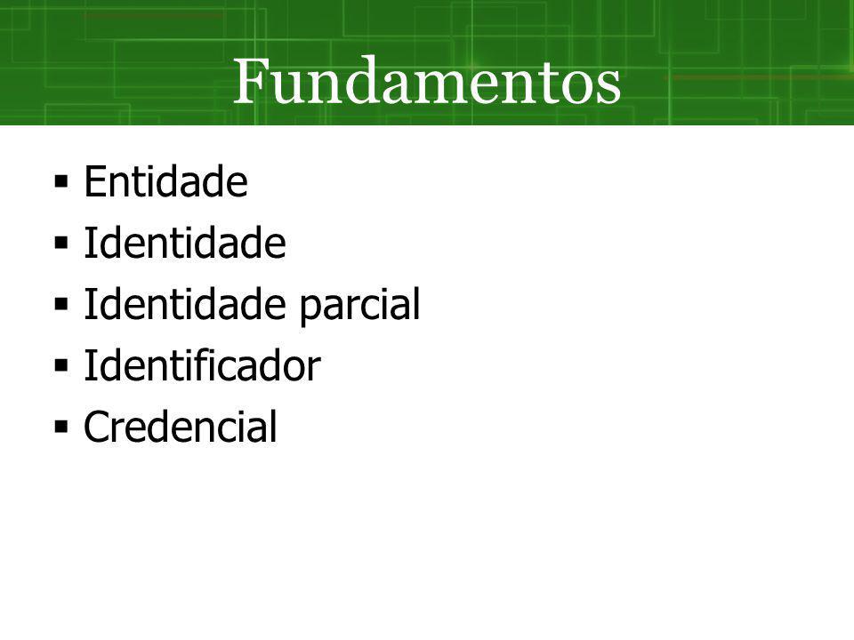 Fundamentos Entidade Identidade Identidade parcial Identificador
