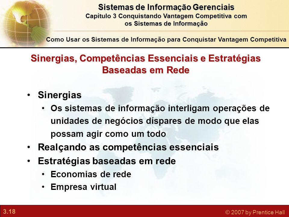 Sinergias, Competências Essenciais e Estratégias Baseadas em Rede