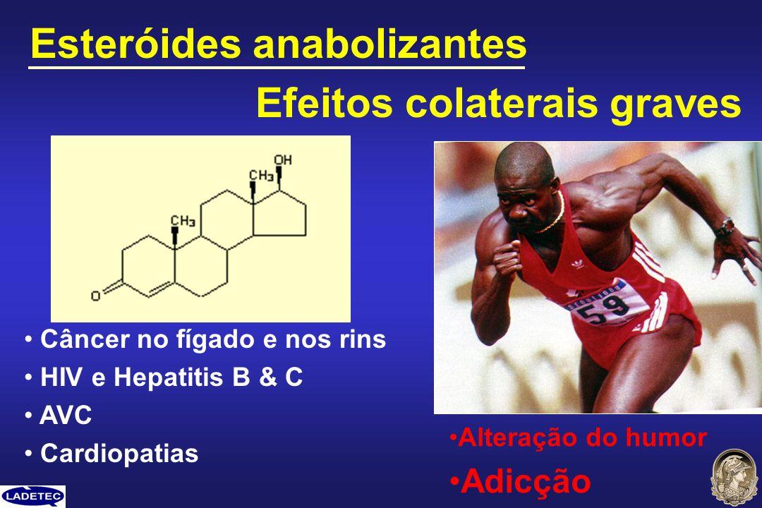 Esteróides anabolizantes Efeitos colaterais graves