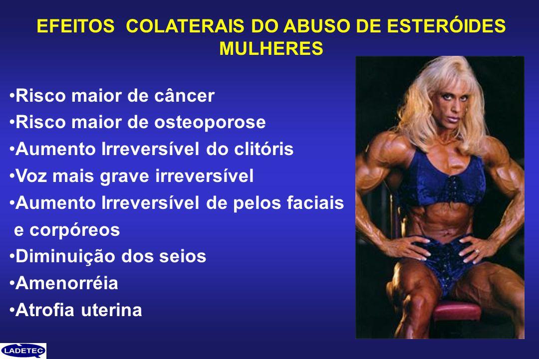 EFEITOS COLATERAIS DO ABUSO DE ESTERÓIDES MULHERES