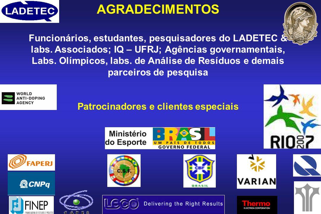 Patrocinadores e clientes especiais