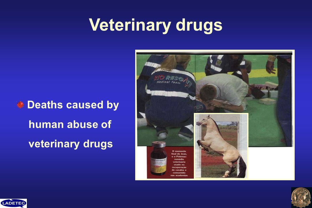 Veterinary drugs Deaths caused by human abuse of veterinary drugs