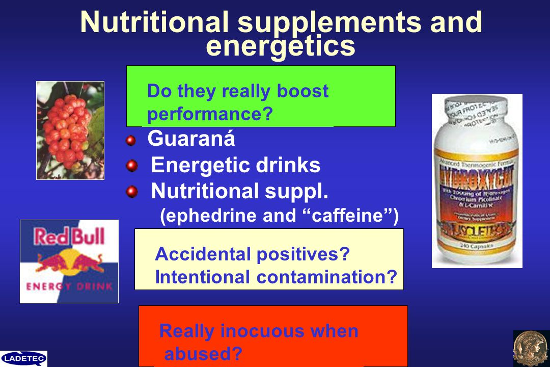 Nutritional supplements and energetics