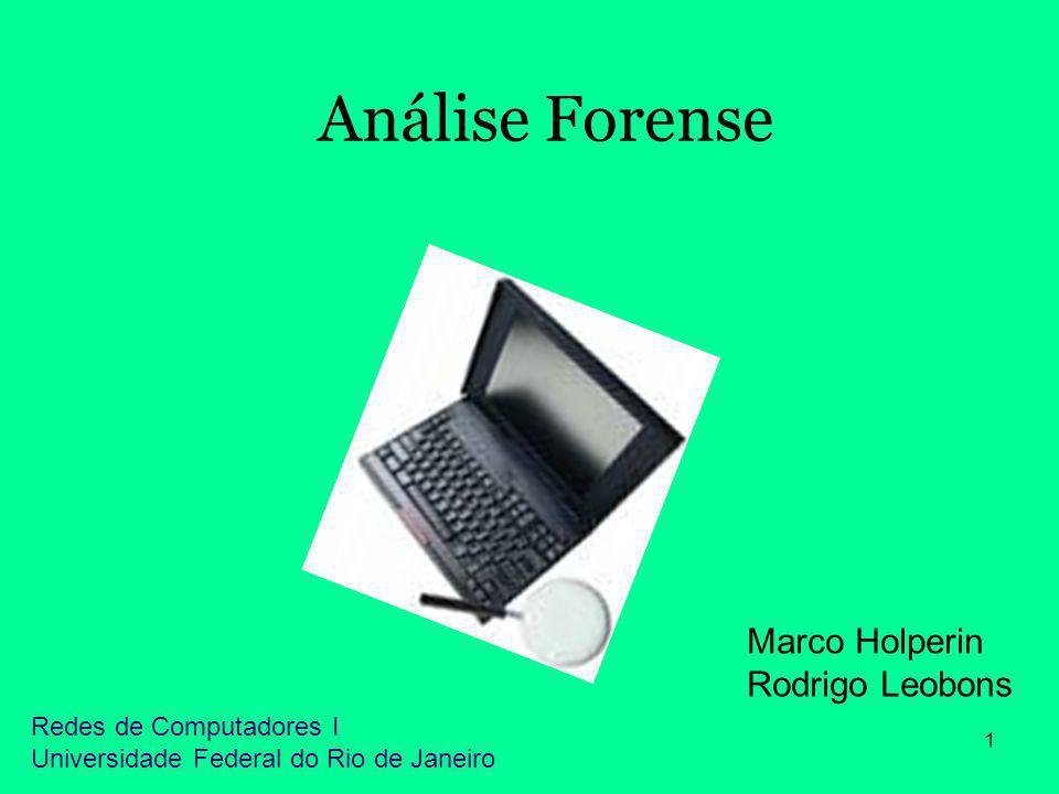 Análise Forense Marco Holperin Rodrigo Leobons Redes de Computadores I