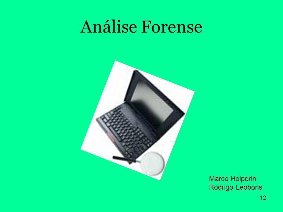 Análise Forense Marco Holperin Rodrigo Leobons
