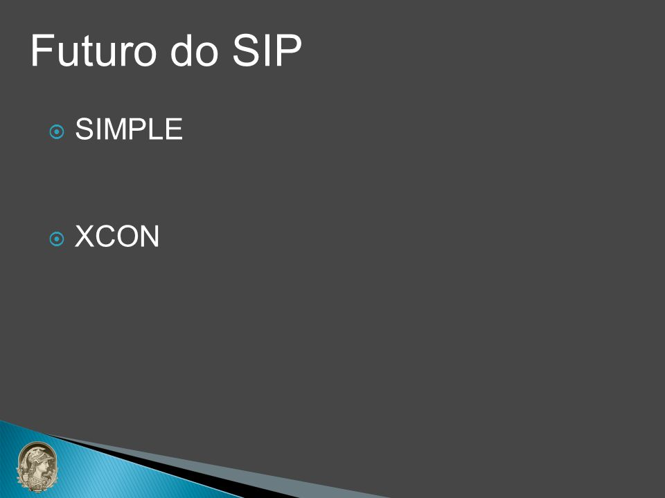 Futuro do SIP SIMPLE XCON
