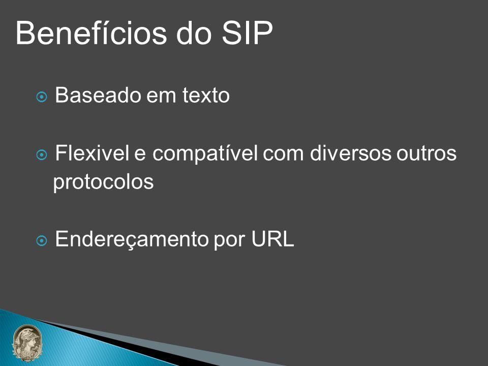 Benefícios do SIP Baseado em texto