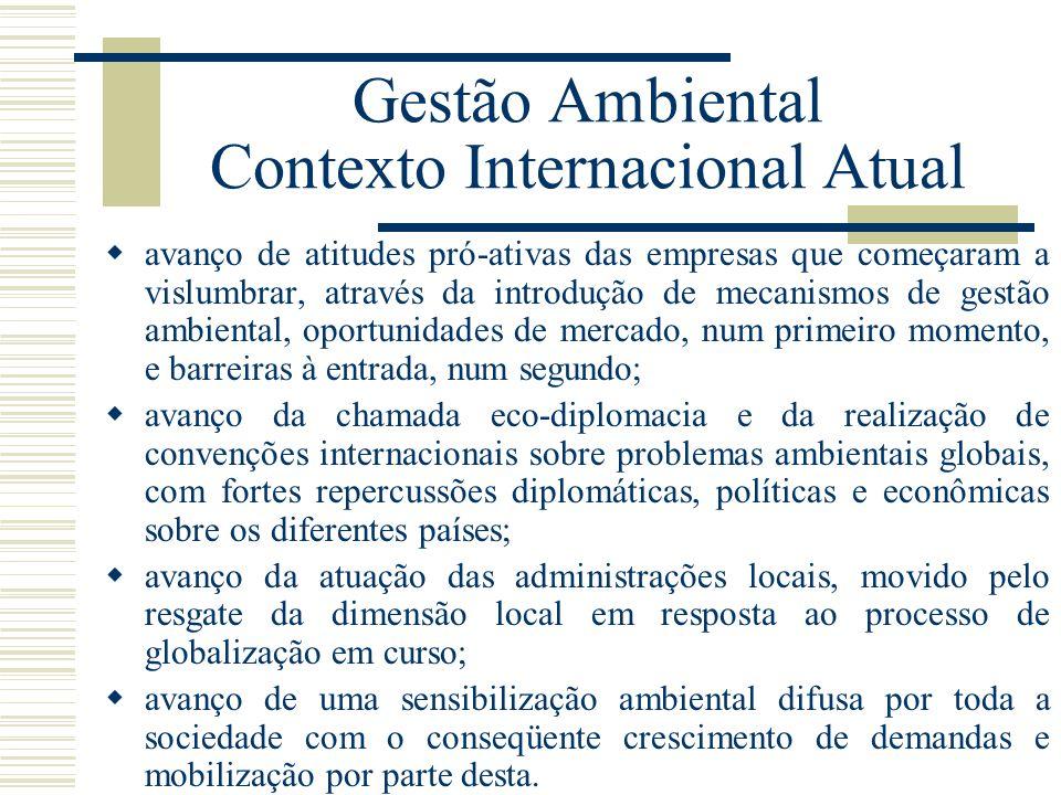 Gestão Ambiental Contexto Internacional Atual