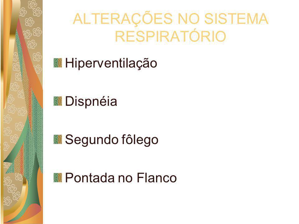 ALTERAÇÕES NO SISTEMA RESPIRATÓRIO